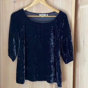Boden crushed velvet blouse